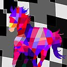 Cool Horse Vector Colors T-Shirt Prints and Stickers by Denis Marsili