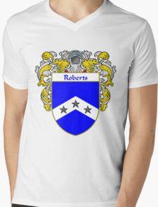 Roberts Coat of Arms / Roberts Family Crest Mens V-Neck T-Shirt