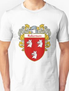 Robertson Coat of Arms / Robertson Family Crest Unisex T-Shirt