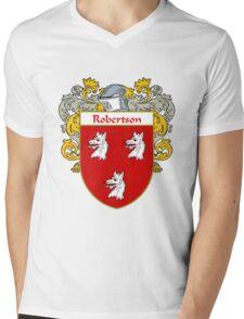 Robertson Coat of Arms / Robertson Family Crest Mens V-Neck T-Shirt