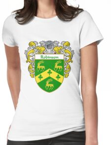 Robinson Coat of Arms / Robinson Family Crest Womens Fitted T-Shirt