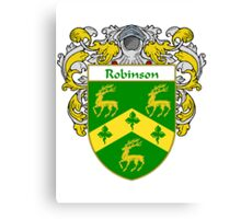 Robinson Coat of Arms / Robinson Family Crest Canvas Print