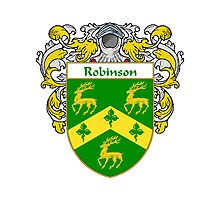 Robinson Coat of Arms / Robinson Family Crest Photographic Print