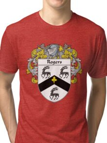 Rogers Coat of Arms / Rogers Family Crest Tri-blend T-Shirt