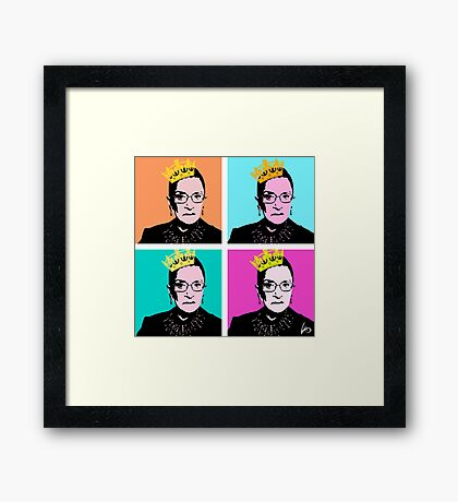 The Notorious RBG Framed Print