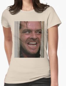 Here's Johnny! Womens Fitted T-Shirt