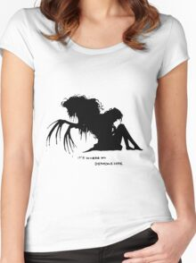 Where my demons hide Women's Fitted Scoop T-Shirt