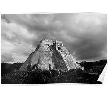 Pirámide del adivino (Pyramid of the Magician), Uxmal, Mexico Poster