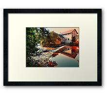 The river, a country house and reflections | waterscape photography Framed Print