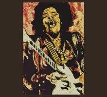 """Jimi Hendrix 4"" by Kevin J Cooper"