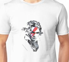 Beethoven David Bowie face paint Unisex T-Shirt