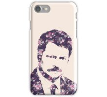 Ron Swanson in Florals iPhone Case/Skin