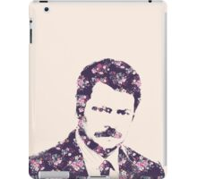 Ron Swanson in Florals iPad Case/Skin