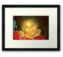 Born to pose Framed Print