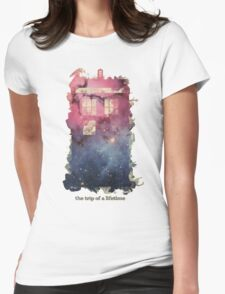 The Trip Of A Lifetime [Tardis] Womens Fitted T-Shirt