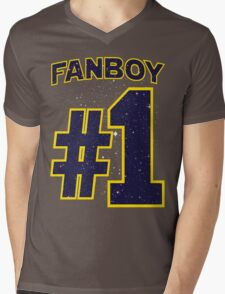 Fanboy #1 Mens V-Neck T-Shirt