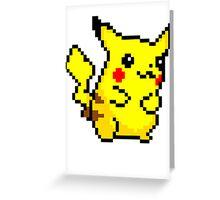 Pixel Pikachu Greeting Card
