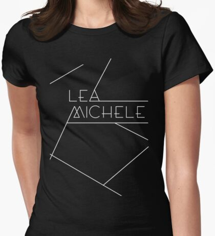 lea michele lines [dark] Womens Fitted T-Shirt