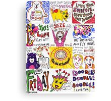 'LUNCHBOX DOODLES'  Canvas Print