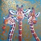 Three Gorgeous Giraffes by Gill Bustamante