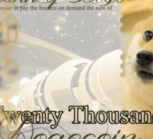Twenty Thousand Dogecoin Sticker
