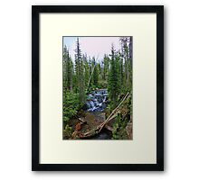 Cascade Creek VI - Color Framed Print