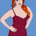 Red head pin up poster by jthing