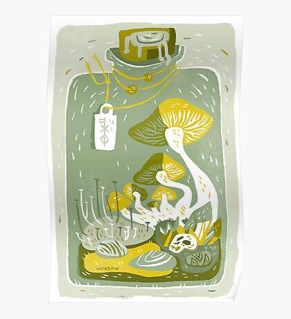 Mushroom Terrarium Poster