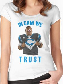 In Cam We Trust - Man of Steel 2016 Women's Fitted Scoop T-Shirt