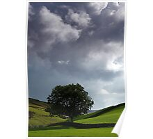 Approaching Storm at Keld in Swaledale Poster