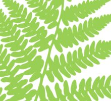 Green fern sticker Sticker