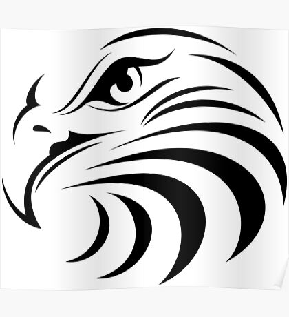 Eagle Face Poster