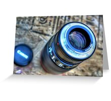 Camera Lens Greeting Card
