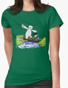 cute hiro and baymax as calvin and hobbes RC  Womens Fitted T-Shirt