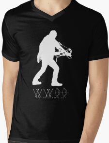 What Would Daryl Do ? white print Mens V-Neck T-Shirt