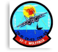 VF- 1 Wolfpack Deactivation Patch Canvas Print