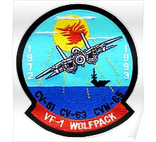 VF- 1 Wolfpack Deactivation Patch Poster
