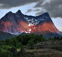 Mountain at Night by Bodil Kristine  Fagerthun