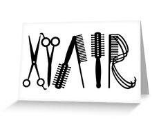 Hair VRS2 Greeting Card