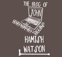John H. Watson /on dark colours/ Kids Clothes
