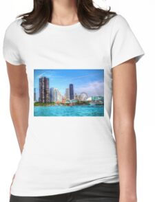 Summer in the City Womens Fitted T-Shirt