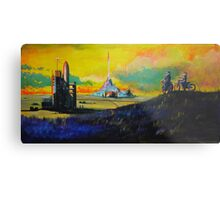 Rocket Base Metal Print