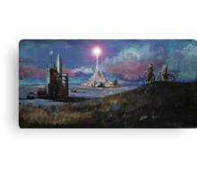 Rocket Base Night Canvas Print