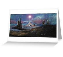 Rocket Base Night Greeting Card