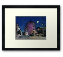 Town. Evening Framed Print
