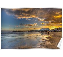 Sandown Pier Sunset Poster