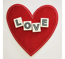 heart love Photographic Print
