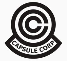 Capsule Corporation Classic Black Logo (Dragonball Z, Small) by Larsonary