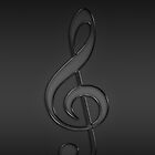 Treble clef music note dark by CreativeImage