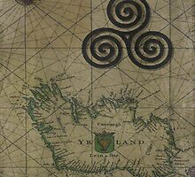 The Triple Spiral Celtic Symbol by GrimalkinStudio
